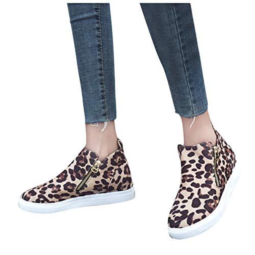 Dorical Damen Platform Sneaker, Frauen Low-Top Sneaker Reißverschluss,Slipper,Schlüpfschuh,Slip-on,modisch,Freizeitschuh Halbschuhe Sportschuh,atmungsaktiv