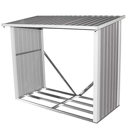 Bentley Garden - box da esterni per la legna - metallo - 2 misure - 182 x 89 cm