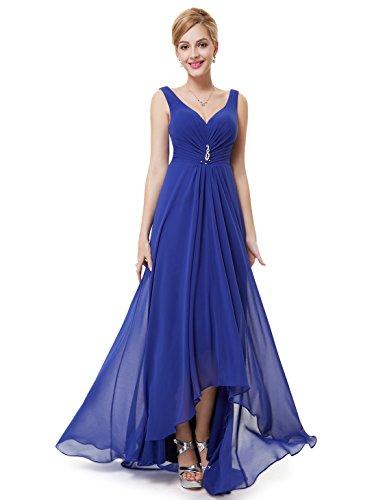 Ever Pretty Robe de Soir¨¦e Double V-col Diamants synth¨¦tiques devant la poitrine 09983 Bleu sapphir