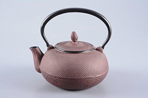 Gusseisen Teekanne / Kanne Arare 1,5l in antik rot inklusive Edelstahlsieb
