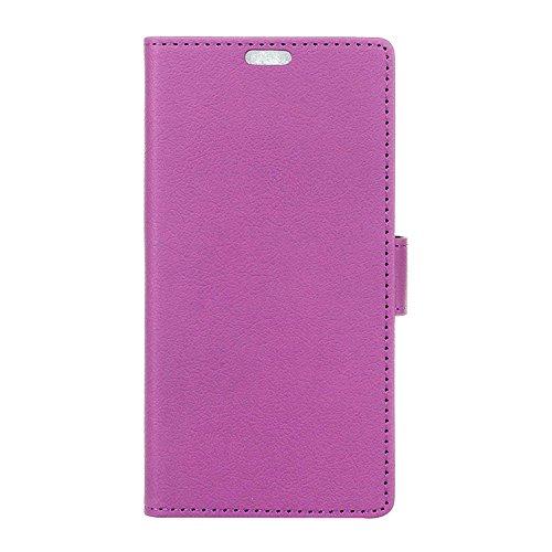 MOONCASE iPhone 7 Bookstyle Étui Housse en Cuir Case Support à rabat Coque de protection Portefeuille TPU Case pour iPhone 7 Blanc Voilet