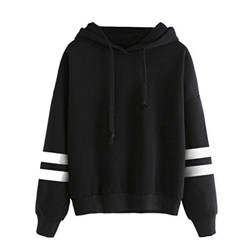 Ba Zha Blouse Sweat-Shirt - Manches Longues - Femme Noir