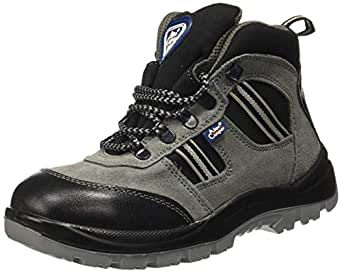 Allen Cooper AC 82153_1157_09 Hi-Ankle Leather Safety Shoe (Size 9 UK/India)