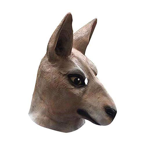 YaPin Halloween Känguru Maske lustige Erwachsene Pferd Maske Latex Einhorn Tier Haube Maskerade Requisiten