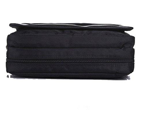 BULAGE Taschen Männer Business Freizeit Schulter Großzügig Studenten Backpacker Einfach Dokument Messenger Sport Black
