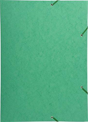 Preisvergleich Produktbild Exacompta 59515E Sammelmappe mit Gummizug und 3 Klappen aus Manila Karton 600 g, Nature Future, für Din A3, grün