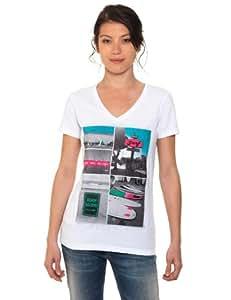 Oxbow Dawson T-shirt manches courtes col V photoprint femme blanc Blanco (White) XL