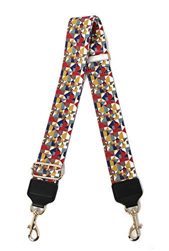 Women Cross Body Bag Strap Stitching Color Stripes Star Pattern Ladies Handbag Shoulder Strap Bag Accessories Belt Bag Parts P
