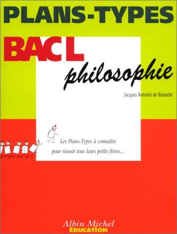 Plans-types : Bac L - Philosophie