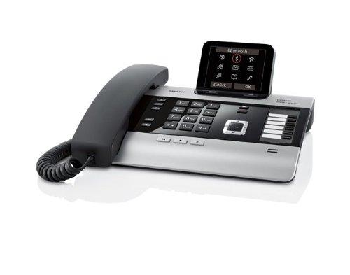 Gigaset DX800A Komfort Telefon - Schnurgebundes Telefon/Schnurtelefon - Anrufbeantworter - Farbdisplay - Freisprechen/Dect Telefon - Schwarz/Silber