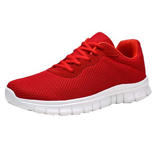 SHE.White Übergröße Sneaker Herren Mesh Atmungsaktiv Laufschuhe Leichte Dämpfung Laufschuhe Turnschuhe Bequem Verschleißfest Fitnessschuhe Outdoor Freizeitschuhe 39-47 -