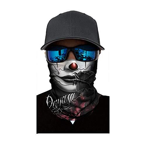 pany Face Shield Damen/Herren Multifunktionstuch   Sturmmaske   Bandana   Schlauchtuch   Halstuch für Motorrad Fahrrad Ski Karneval Kostüm 3D Tiere Maske (G) ()