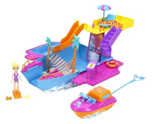 Preisvergleich Produktbild Mattel Polly Pocket Y6717 - Abenteuer Jacht, inklusive Puppe und Zubehör