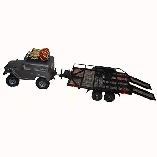 Wokee Heavy Duty Autotrailer Bootsanhänger Kit Aus Hochwertigem Hartplastik für 1/10 Traxxas HSP Axial SCX10 HPI RC Crawler