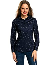 690cbb0bbd oodji Ultra Mujer Camisa con Bolsillos en el Pecho