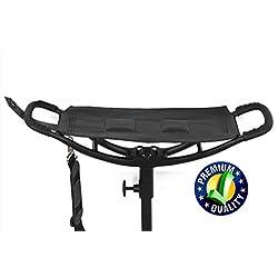 Nuevo calidad negro piel disparo asiento bastón plegable asiento bastón