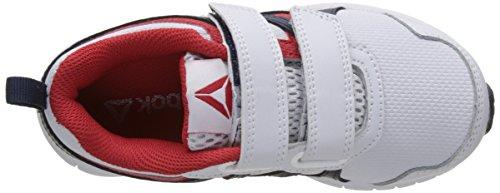 Reebok Run Supreme 2.0 2v, chaussures de course garçon Multicolore (White/collegiate Navy/primal Red)