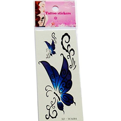 Temporäre Tattoos, Oyedens SchöN Wasserdicht 3D Schmetterling Blume GefäLschte TäTowierungen Aufkleber 7# (Temporäre Tattoos Für Männer Chinesische)