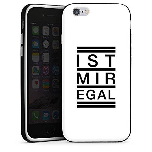 Apple iPhone X Silikon Hülle Case Schutzhülle Egal Trend Statement Silikon Case schwarz / weiß