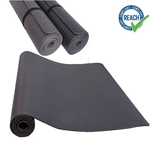 HD Fitness FM2350BLK Esterilla Yoga Protectiva Antideslizante