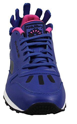 Reebok Herren X Keith Haring Classic Leather Lux V44584 Sneaker Schuh Schuhe Blau