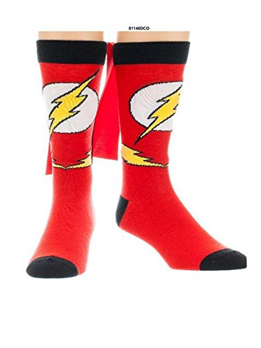 DC Comics Crew Socken Flash Print, Rot, 41-45 EU (7.5-11.5 UK)