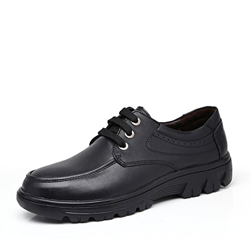 spades-clubs-mens-smooth-leather-casual-trendy-thick-heel-working-platform-shoes-size-55-uk-black