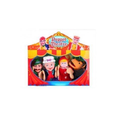 Puppet theatre SET 4 MARIONETTE cappuccetto rosso 540847667