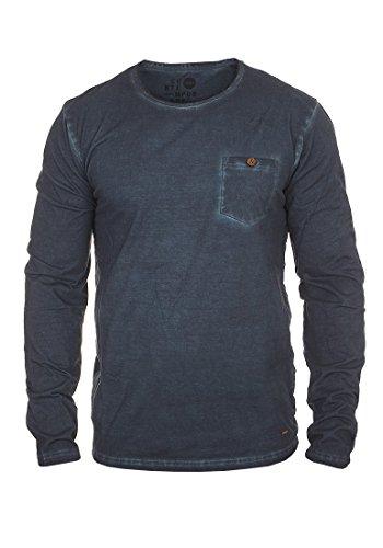 SOLID Tharan Herren Longsleeve Rundhals-Ausschnitt aus 100% Baumwolle , Größe:XXL, Farbe:Insignia Blue (1991)