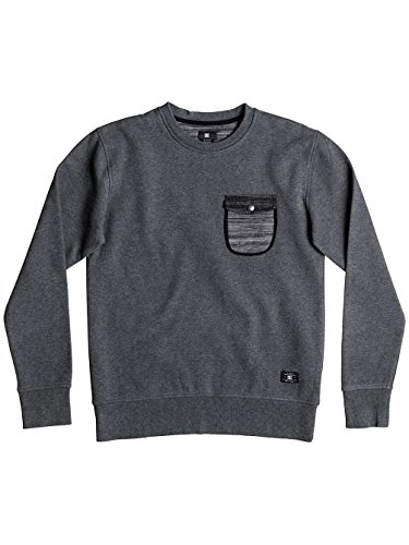 Herren Sweater DC Weblay Sweater Heather Charcoal