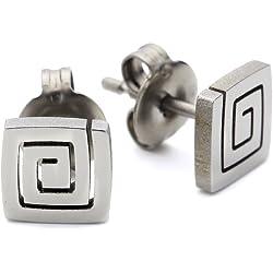 Pure Grey Nr. 24316 - Pendientes de de titanio