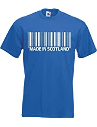 Made in Scotland Barcode T-Shirt Scot Jock Support Scottish Gift Funny Team