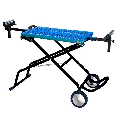 Scheppach mobiles Untergestell MT180T (bis 200 Kg belastbar, Laufräder, ausziehbare und höhenverstellbare Werkstückauflage, integrierte Laufrolle, Tischfläche 820 x 460 mm)