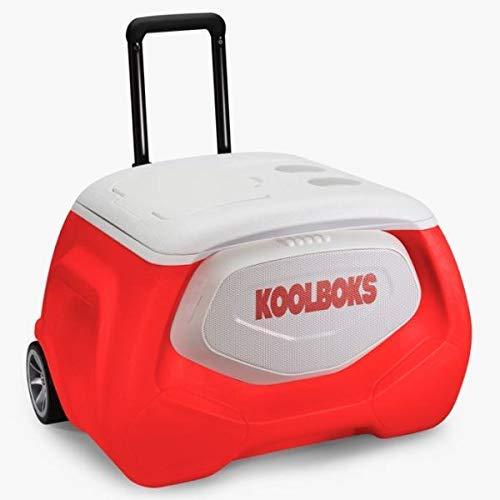 Koolboks Der intelligenteste Kühler der Welt - elektrische Outdoor-Kühlbox für 3 Tage Kühl-Spaß | Integriertes Handy-Ladegerät, Musik-Player, Bieröffner & LED-Leuchten für das ultimative Camping