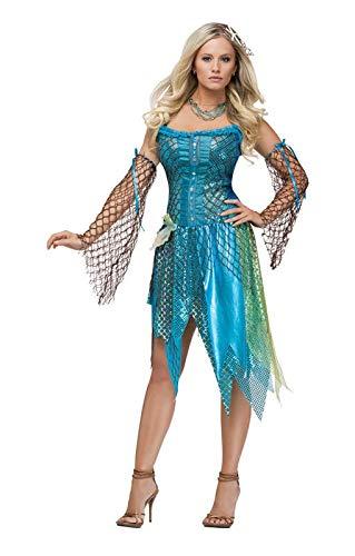 Nixe Sirene Kostüm - Horror-Shop Sexy Meerjungfrau Premium Kostüm L / 40