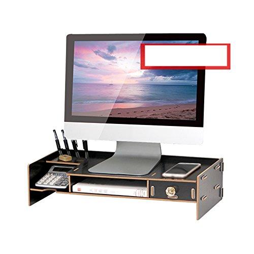Support Computer-Monitore Raised Shelves Base Panels Bürobedarf Racks Finishing Racks Holz Mit Schubladen A++ (Farbe : 3#, größe : M) - 3-schubladen-panel