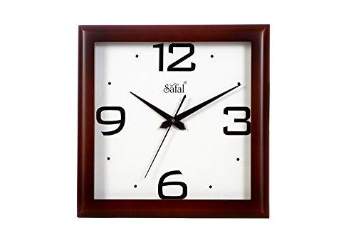 Safal Big Figures Wall Clock (Brown, SQ 2026)