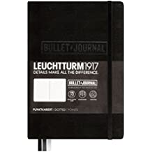 Leuchtturm1917 BULLET JOURNAL 346703 - Carnet Medium (A5) Couverture Rigide, 240 Pages numér., Pointillés, Noir