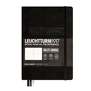 LEUCHTTURM1917 (346703) Bullet Journal Notebook Medium (A5), Hardcover, 240 Numbered Pages, Dotted, Black (B016WKV8UC) | Amazon price tracker / tracking, Amazon price history charts, Amazon price watches, Amazon price drop alerts