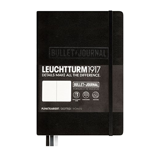 LEUCHTTURM1917 346703 Bullet Edition Journal Notebook Medium A5 240 Pages dotted Lines, Colour: Black