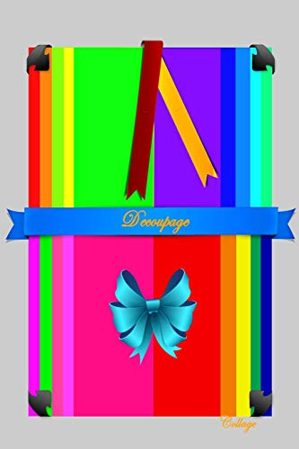 DECOUPAGE: COLLAGE (Scrapbook Paper Rainbow Colored Sheet Collage Decoupage Series 2 (6x9), Band 2) -