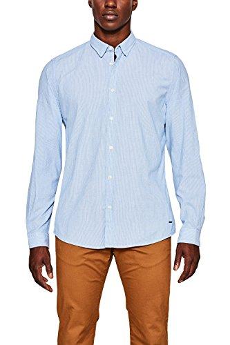 ESPRIT Herren Freizeithemd 087EE2F016, Blau (Light Blue 440), 42 (Herstellergröße: M) Preisvergleich