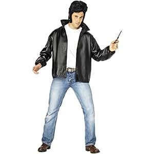 50er 60er jahre rock n roll t bird grease jacke rocker kost m xl 56 58 biker herren outfit. Black Bedroom Furniture Sets. Home Design Ideas