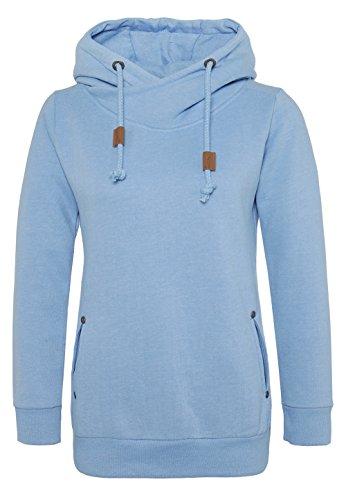 Sublevel Damen Sweathoodie I Sportlich-Eleganter Kapuzenpullover mit hohem Baumwollanteil Light-blue1 XL