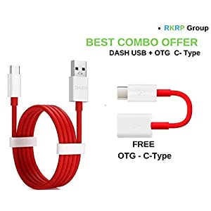 RKRP Group DASH Fast USB Type - C - Cable for One Plus 6/ 5/5t/3/3t ( 100 CM round cable Red )