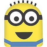 Gru, mi villano favorito - Cojín de poliéster, 34 x 26 cm, diseño con forma de cabeza de Minion Dave, color amarillo