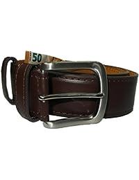 7ac6c038d4e76f Einkaufszauber Echt Leder Gürtel mit Geheimfach Braun Geldgürtel  Tresorgürtel
