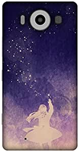 The Racoon Grip Sky Full of Stars 2 hard plastic printed back case / cover for Microsoft Lumia 950