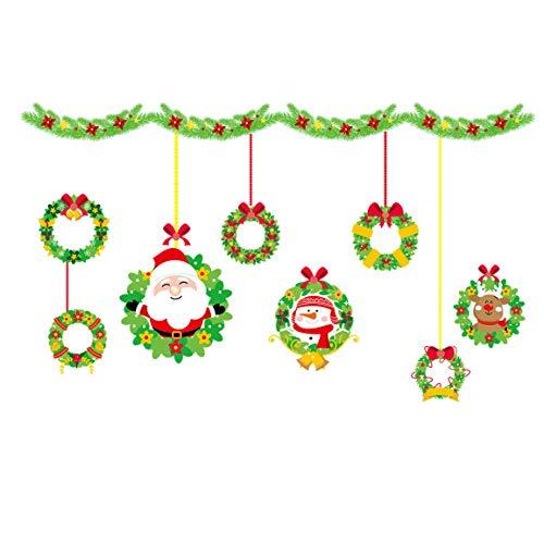 leber 2019 Frohe Weihnachten Flugzeug Wandaufkleber Haushalt Zimmer Wandaufkleber Wand Dekor Möbel Aufkleber Aufkleber Abnehmbar ()