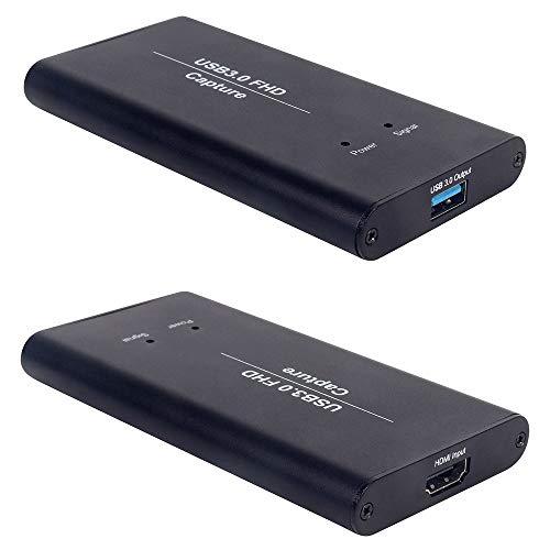 Externe Festplatte,HDML-Videospiel-Capture-Karte, USB3.0-Konverter für HD-Videospiel-Gerätekarten Spiel-Streaming Live-Stream-Übertragung 1080P OBS/Vmix/Wirecast/Skype (2 Löcher) - Spiel-capture-karte